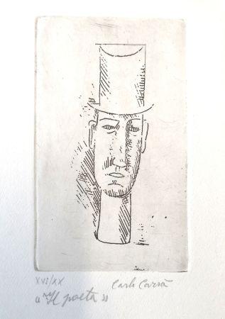 Eau-Forte Carra - Il poeta