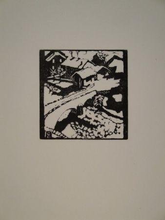 Gravure Sur Bois Giacometti - Il ponte al sole, die Brücke in Stampa
