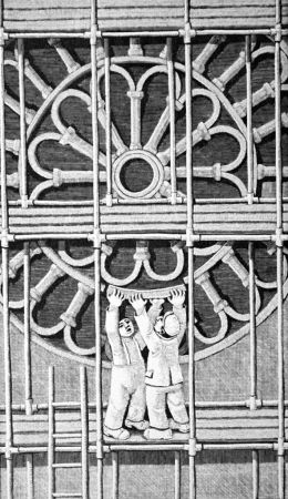 Gravure Sur Bois Morena - Il restauro
