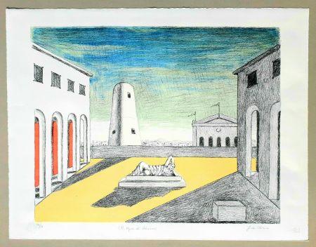 Lithographie De Chirico - Il riposo di Arianna