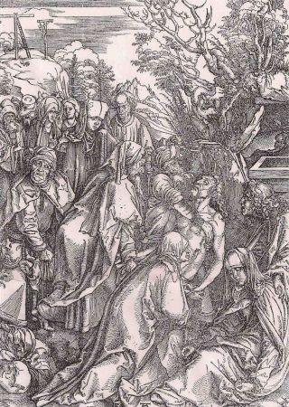Gravure Durer - Il seppellimento