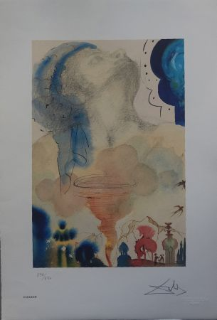 Lithographie Dali - Il Tornado