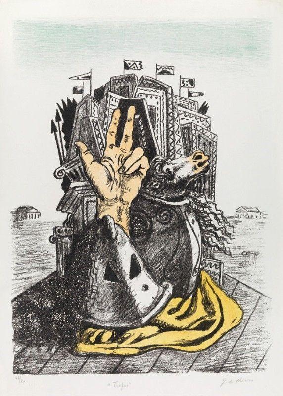 Lithographie De Chirico - IL TROFEO