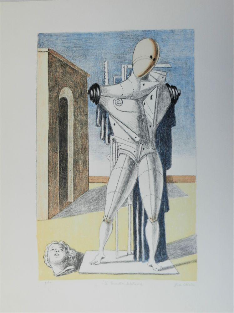 Lithographie De Chirico - Il trovatore solitario