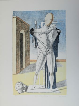Lithographie De Chirico - Il trovatore solitario