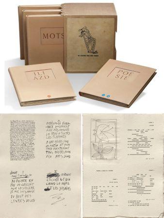 Livre Illustré Picasso - ILIAZD (Ilia Zdanevitch, dit.) POÉSIE DE MOTS INCONNUS. Gravures de Picasso, Matisse, Braque, Miro, Léger, Chagall, Giacometti, etc. 1949.