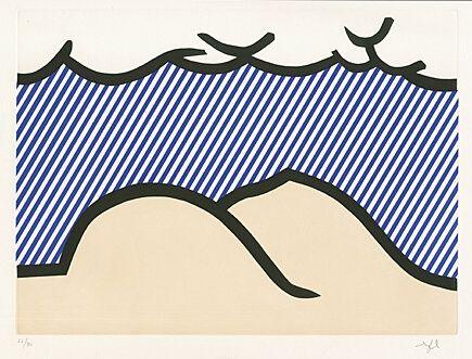 """Eau-Forte Et Aquatinte Lichtenstein - Illustration For """"De Denver Au Montana, Départ 27 Mai 1972"""" (I)"""