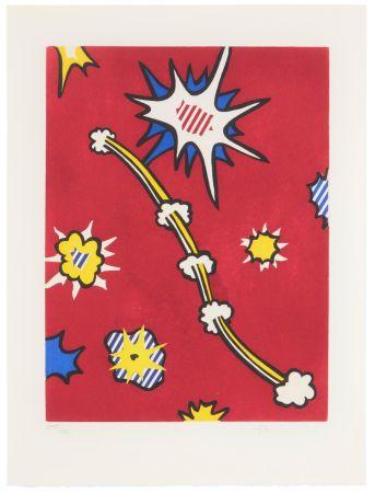 Eau-Forte Et Aquatinte Lichtenstein - Illustration for 'De Denver au Montana, Départ 27 Mai 1972' (II)