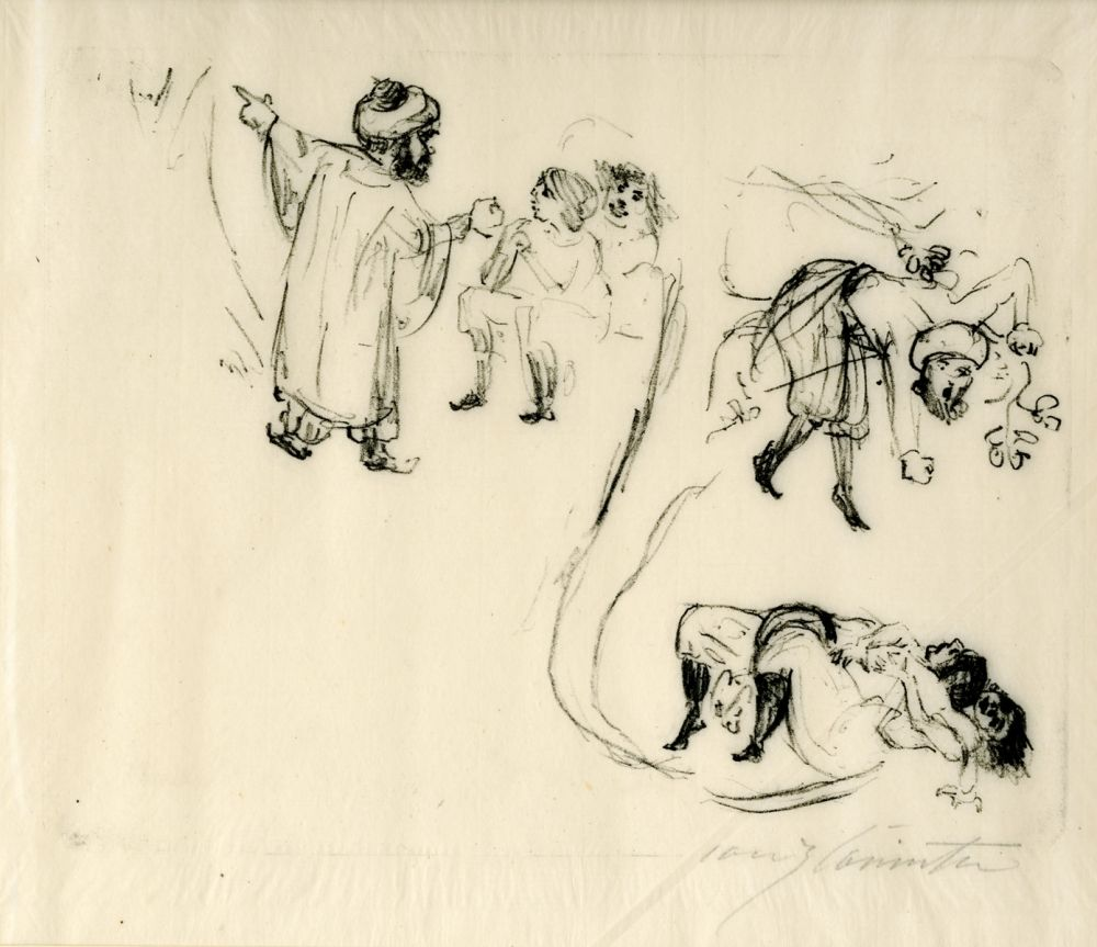 Lithographie Corinth - Illustration zu 1001 Nacht