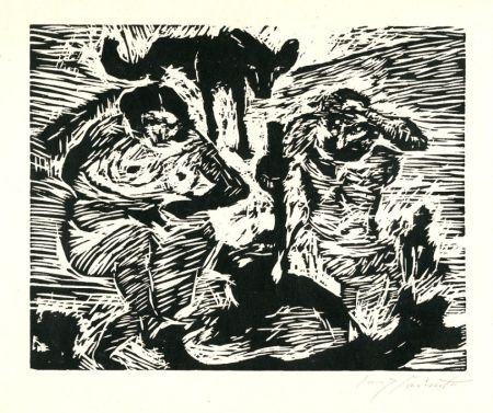 Gravure Sur Bois Corinth - Im Schweiße deines Angesichtes (Adam and Eve)