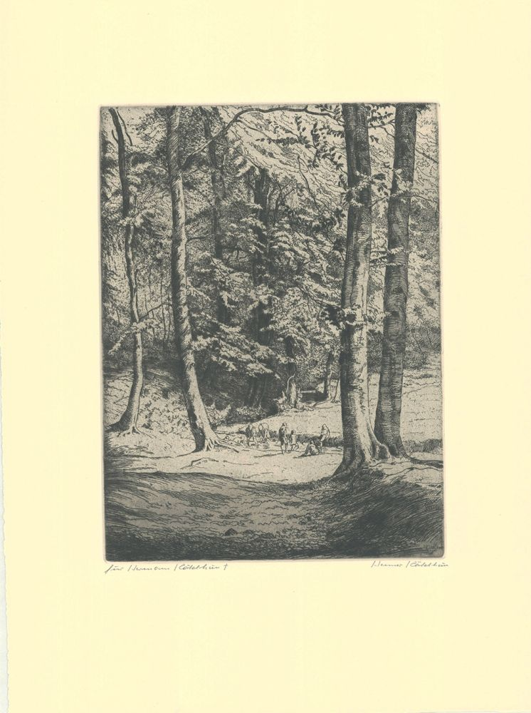 Gravure Kätelhön - Im Wald