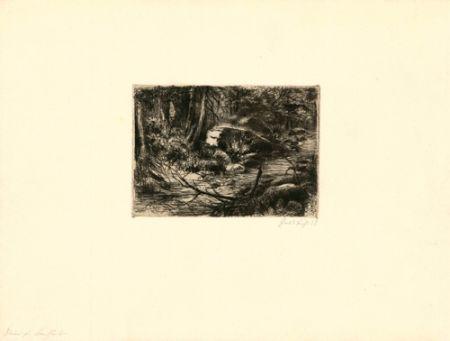 Gravure Fuchs - Im Wald