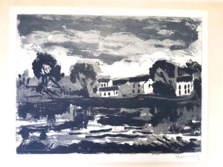 Lithographie Vlaminck - Image : 23,5 x 32 cm