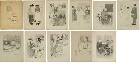 Lithographie Hermann-Paul - Images pour les Demoiselles