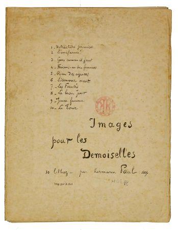 Lithographie Hermann-Paul - Images pour les Demoiselles (covert)