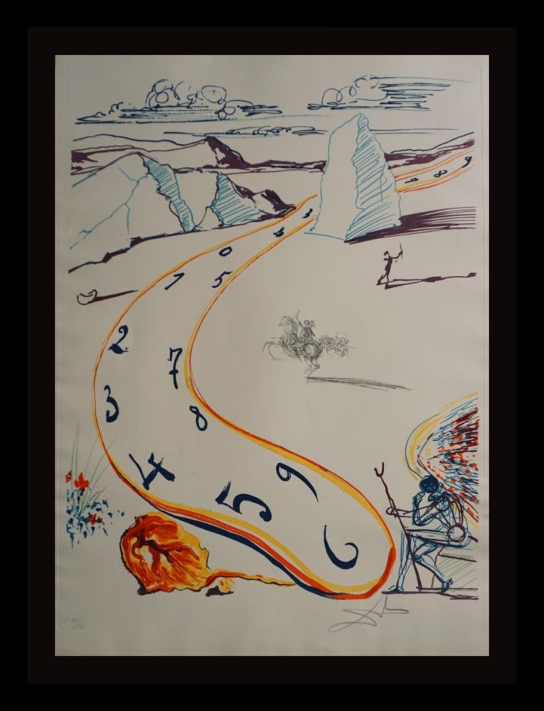 Gravure Dali - Imaginations & Objects ofThe Future Melting Space Time
