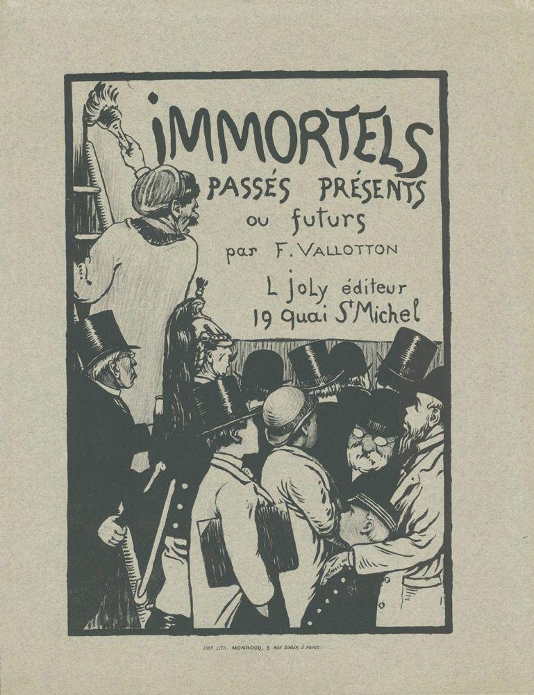 Lithographie Vallotton - Immortels passés, présents ou futurs