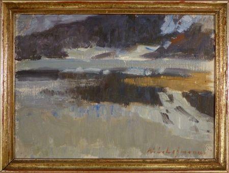 Aucune Technique Lehmann - Impressionistische Landschaftsstudie
