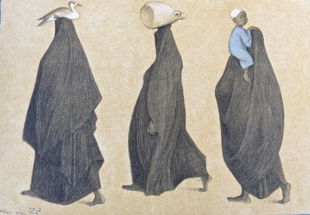 Lithographie Zuniga - Impressions of Egipto (Egypt) plate 10