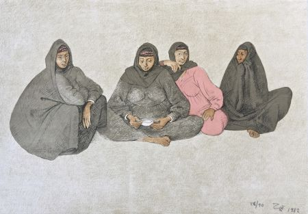 Lithographie Zuniga - Impressions of Egipto (Egypt) plate 9