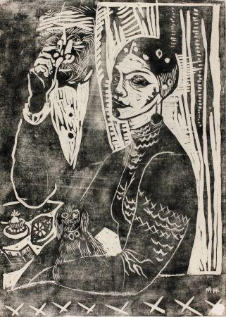 Gravure Sur Bois Hamerschlag - In der Loge - Selbstporträt (At the Loge - Selfportrait)