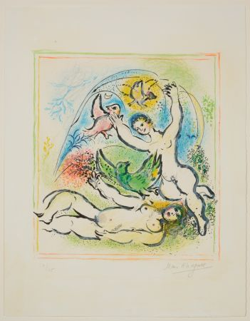 Lithographie Chagall - In the Land of the Gods