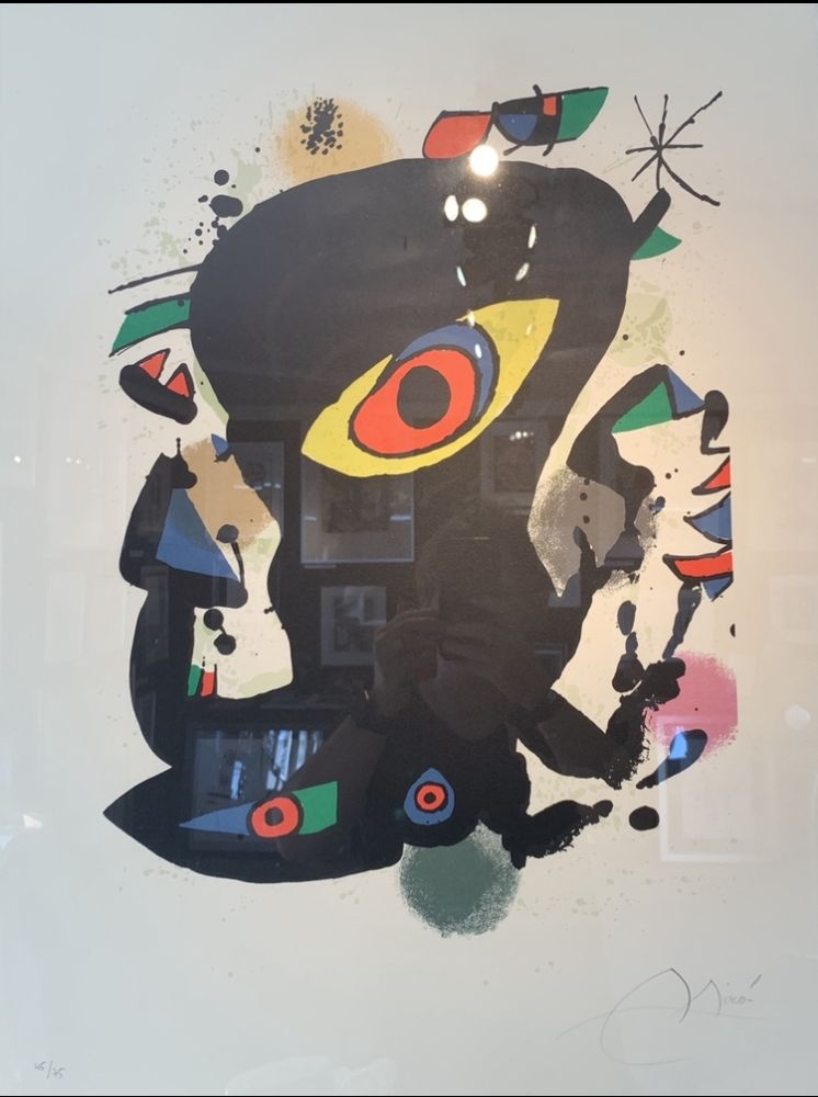 Lithographie Miró - Inauguration galerie Maeght Barcelone