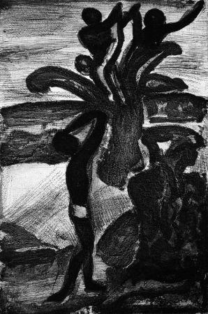 Aquatinte Rouault - Incantation