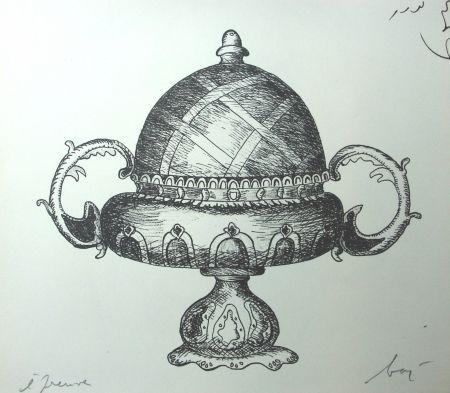 Lithographie Baj - Incongruité