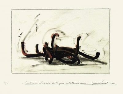 Sérigraphie Venet -  Indeterminate Lines