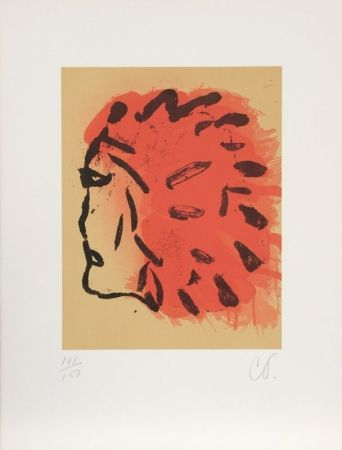 Lithographie Oldenburg - Indian Head from Peace Portfolio