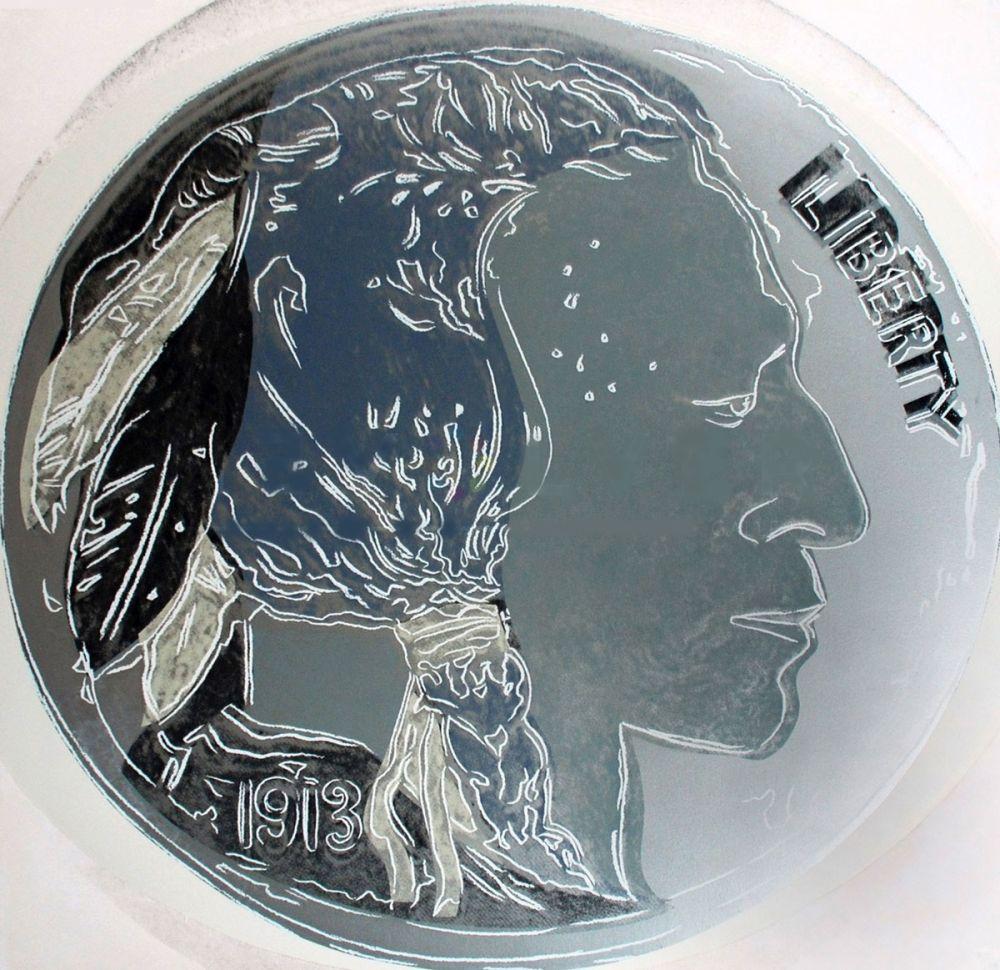 Sérigraphie Warhol - Indian Head Nickel (FS II.383)