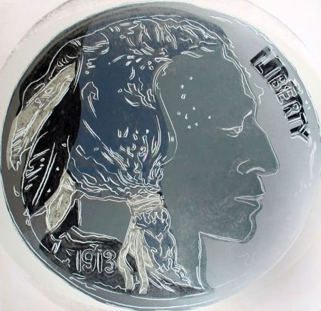 Sérigraphie Warhol - Indian Head Nickel (FS II.385)