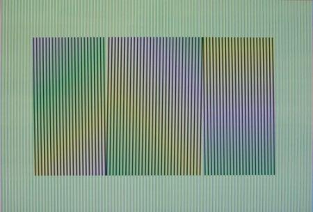 Lithographie Cruz-Diez - Inducción Cromática a doble frecuencia Toledo.