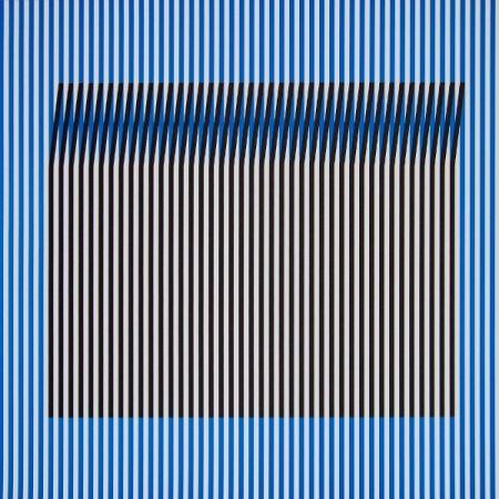 Lithographie Cruz-Diez - Induction du Jaune Tepuy 2