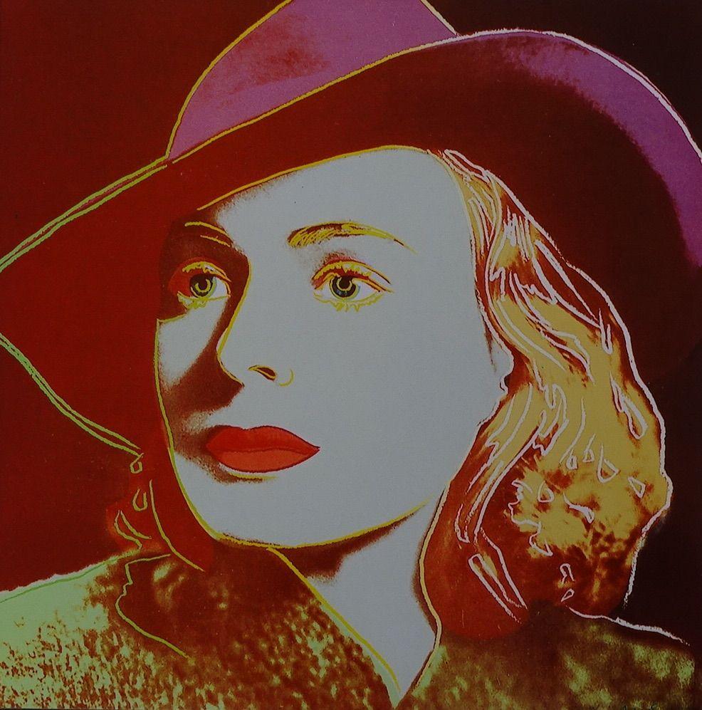 Sérigraphie Warhol - Ingrid Bergman Casablanca