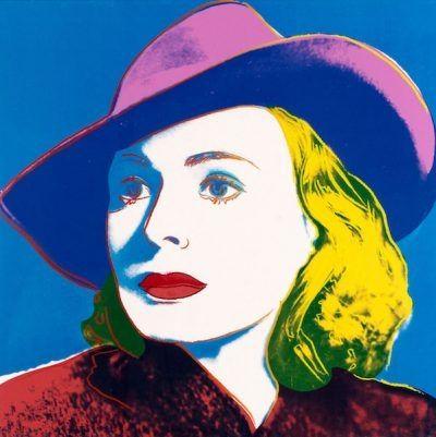 Sérigraphie Warhol - Ingrid with Hat