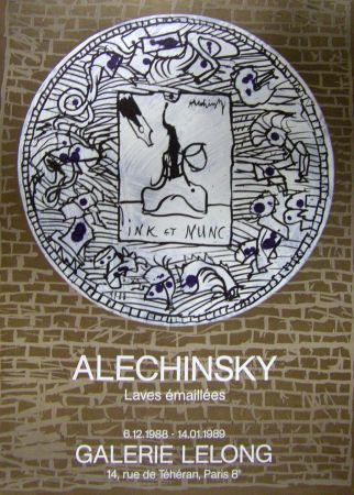 Affiche Alechinsky - Ink et nunc