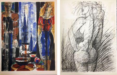 Lithographie Gromaire - INTÉRIEUR (1952)