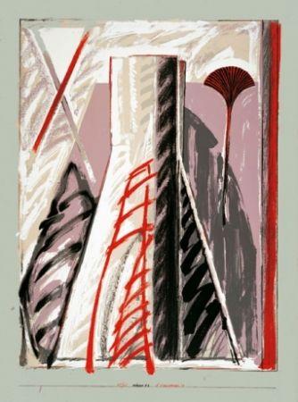 Lithographie Titus Carmel - Intérieur 2