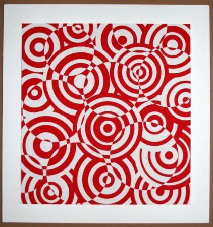 Aucune Technique Asis - Interférences cercle rouge et blanc