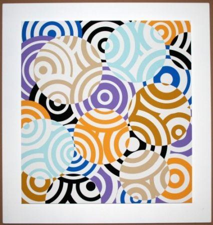 Gravure Sur Bois Asis - Interferences cercles de couleurs