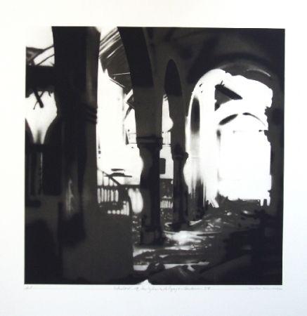 Lithographie Equipo Realidad - Interior de la Iglesia de Espejo (Cordoba) en septiembre de 1937