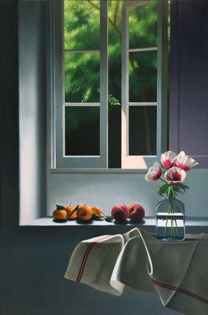 Aucune Technique Cohen - Interior with Anemones and Fruit
