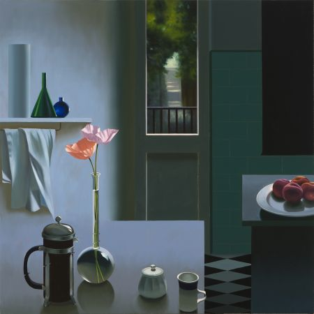 Aucune Technique Cohen - Interior with Coffee Pot and Poppies