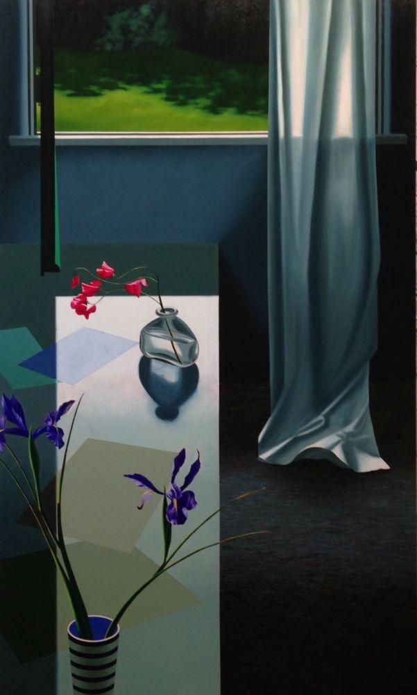 Aucune Technique Cohen - Interior with Iris and Sweet Peas