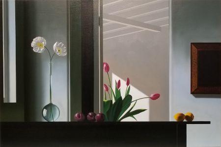 Aucune Technique Cohen - Interior with Sunlit Tulips