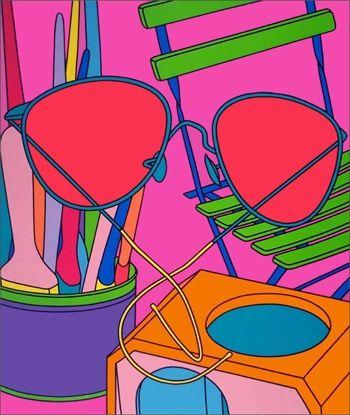 Sérigraphie Craig-Martin - Intimate Relations: Sunglasses