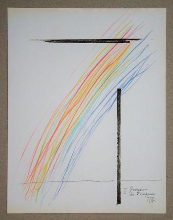 Lithographie Ray - Invasion de l'espace