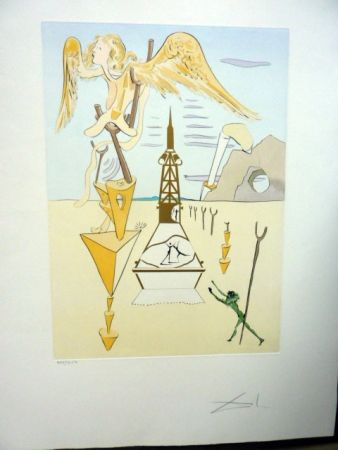 Eau-Forte Dali - Invention Of The Rocket